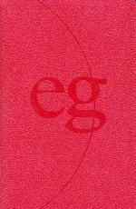 Evangelisches Gesangbuch (EG 44): Lederfaserstoff rot