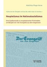 M. Plaga-Verse: Neupietismus im Nationalsozialismus